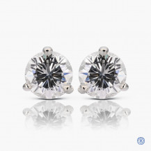14k white gold 0.76ct diamond stud earrings