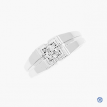 10kt white gold 0.40ct Canadian diamond gentleman's ring