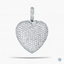 18kt White Gold Diamond Heart Motif Pendant