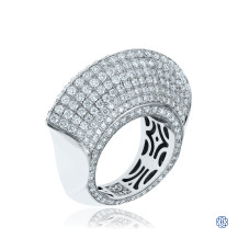 18kt White Gold Opulent Mirage Diamond Ring