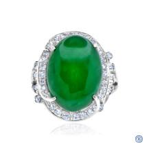 18kt Jade Diamond Ring