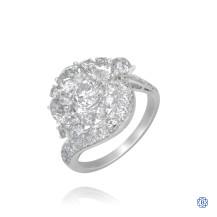 Platinum Cluster Diamond Ring