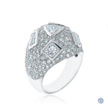 14kt White Gold Multi-Cut Diamond Ring