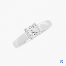 18k White gold 0.70ct Canadian diamond solitaire ring