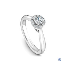 Noam Carver Studio 14kt White Gold Halo Engagement Ring