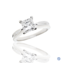 18kt White Gold Diamond Solitaire Engagement Ring