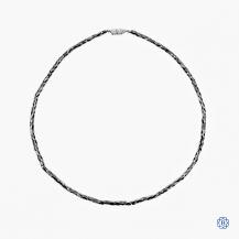 14k white gold black diamond necklace