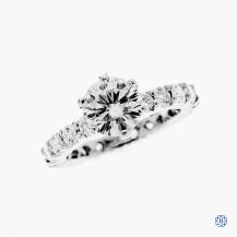 18kt white gold Moissanite and Diamond engagement ring