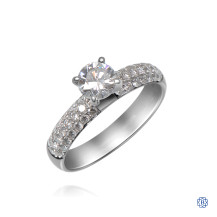 18kt White Gold Classic Diamond Engagement Ring