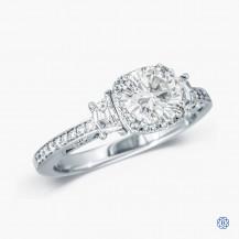 Tacori 18kt White Gold 1.00ct Diamond Dantela Engagement Ring