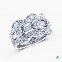 Tacori 18kt white gold diamond ring