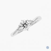 18k white gold Lazare Kaplan diamond engagement ring