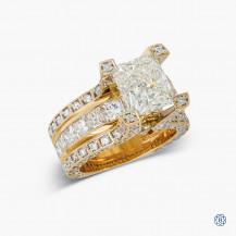 18k Yellow Gold 3.06ct Diamond Engagement Ring