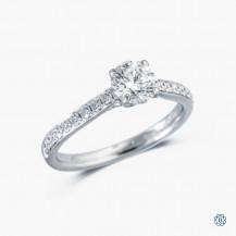 platinum Lazare Kaplan 0.79ct diamond engagement ring