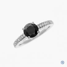 Scott Kay 14k white gold 1.06ct black diamond engagement ring