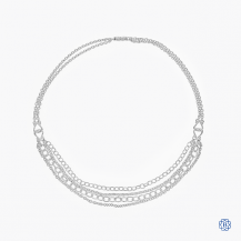 Scott Kay sterling silver tiered necklace