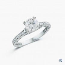 Tacori 18k white gold Clean Crescent 1.00ct diamond engagement ring