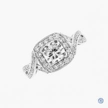 14k white gold 1.03ct Maple Leaf Canadian diamond engagement ring