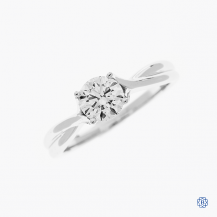 Hearts on Fire 18k white gold 0.72ct diamond engagement ring