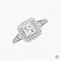 18k gold 1.01ct diamond engagement ring