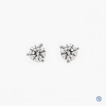 Hearts on Fire 18k white gold 0.75ct diamond stud earrings