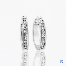 Hearts on Fire 18k white gold diamond hoops