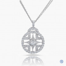 Hearts on Fire 18kt white gold diamond necklace
