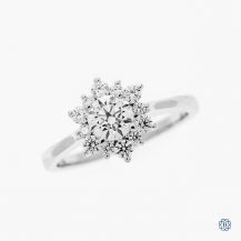 18k white gold and diamond Hearts on Fire engagement ring