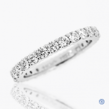 Hearts on Fire 18k white gold diamond eternity band
