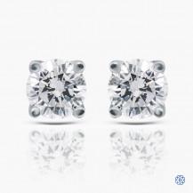 14k white gold 0.80ct diamond stud earrings