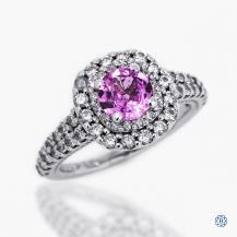 14k white gold 0.83ct sapphire and diamond ring
