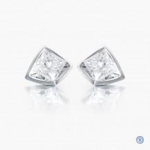 14k white gold 0.56ct Maple Leaf Diamond earrings