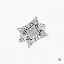 Tacori 18k white gold diamond fashion ring