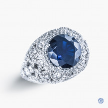 Tacori Platinum RoyalT Sapphire and Diamond Engagement Ring