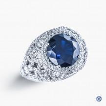 Tacori Platinum RoyalT Sapphire and Diamond Engagement Ring