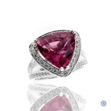 Royal 14kt White Gold Tourmaline and Diamond Ring