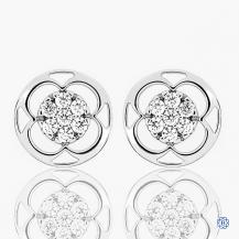 Hearts on Fire 18k white gold diamond stud earrings