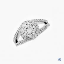 14k white gold 1.24ct diamond engagement ring