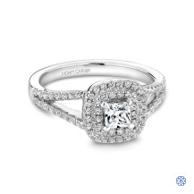 Studio 14kt White Gold Halo Engagement Ring