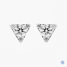 Hearts on Fire 18kt white gold diamond stud earrings