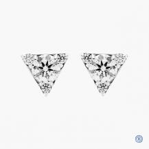 Hearts on Fire 18kt white gold diamond stud earrings