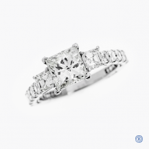 18kt White Gold 1.54ct Diamond Clean Crescent Engagement Ring
