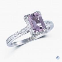 Tacori Platinum Dantela 0.74ct Morganite Engagement Ring