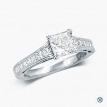 Tacori 18k White Gold Reverse Crescent 1.12ct Lab Created Diamond  Engagement Ring