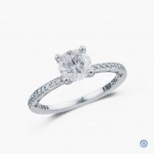 Tacori Classic Crescent 18k white gold and diamond engagement ring
