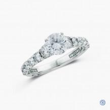 Tacori Classic Crescent 18k white gold 1.02ct diamond engagement ring