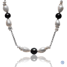 14kt White Gold Custom Pearl Necklace