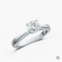 18kt white gold 1.00ct diamond solitaire engagement ring