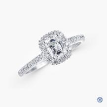 Christopher Designs 0.54ct Crisscut Diamond Engagement Ring