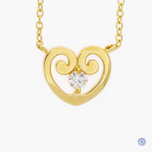 Hearts on Fire 18k yellow gold diamond necklace